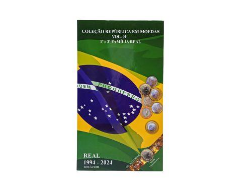 Álbum para Moedas do Real 1994 a 2024 - NOVO