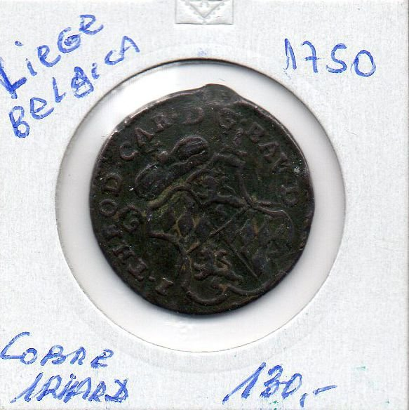 Moeda de Liege 1750 - 1 Liard