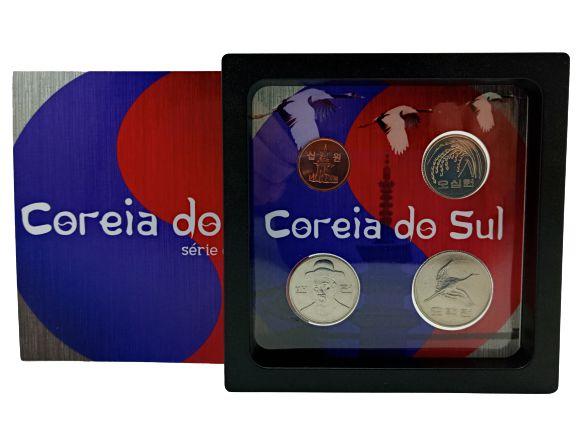 Display de Plástico Coreia do Sul com 4 moedas