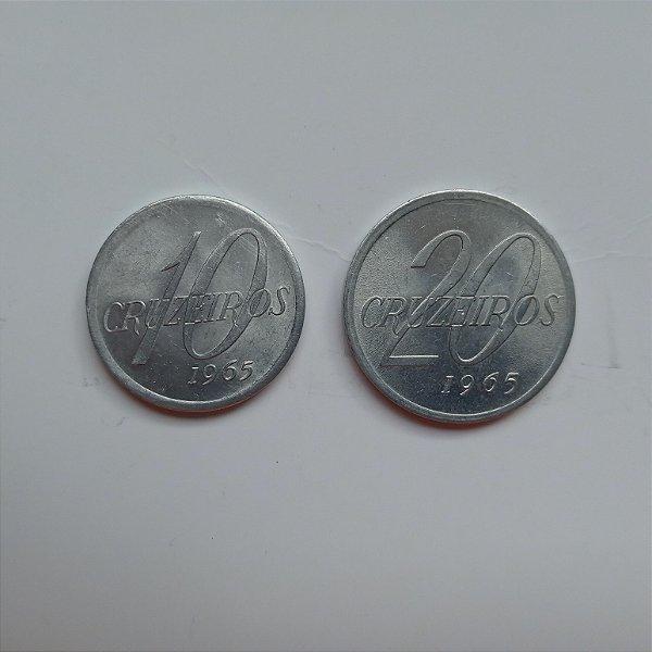 Moeda de 10 e 20 Cruzeiros de 1965