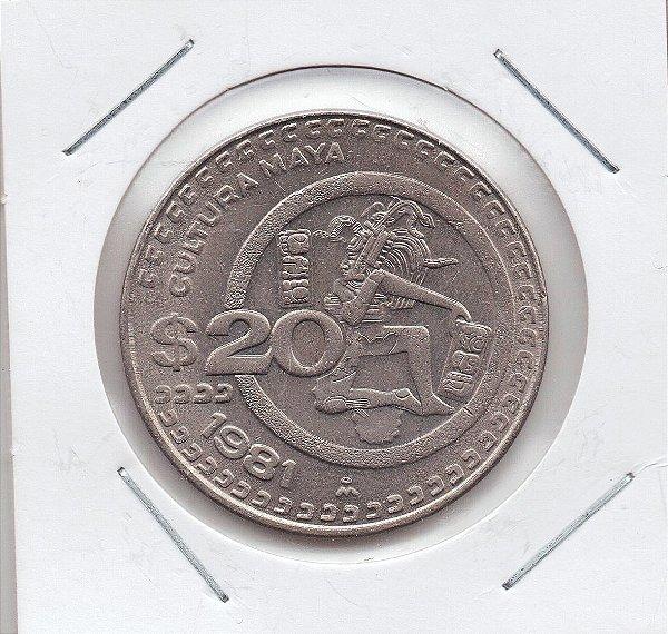 Moeda do México - 20 Pesos - 1981