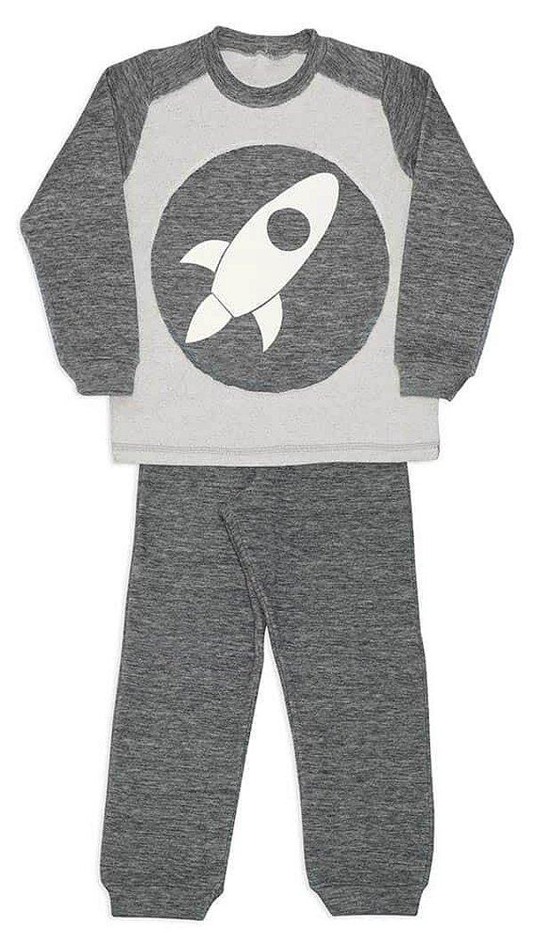 Dedeka Pijama Infantil Conjunto Fleece Double Face Menino