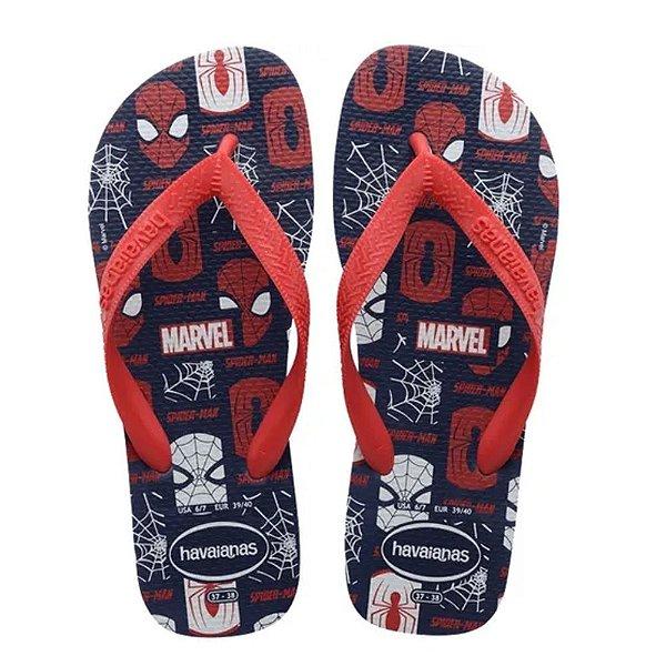 Havaianas Infantil Top Marvel Homem Aranha Chinelo Original