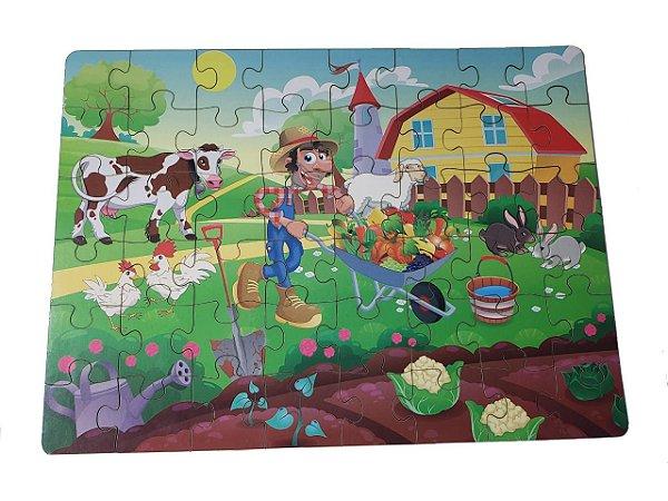 Quebra-cabeças 3d De Madeira 48 Peças    Fazenda