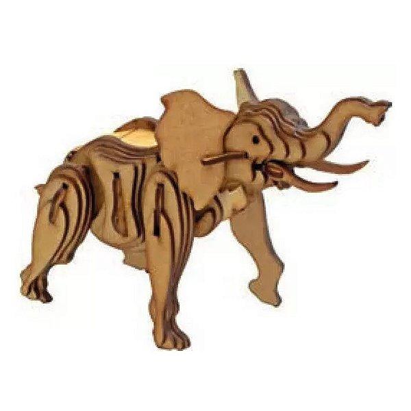 Quebra cabeça de madeira Animais 3D Elefante