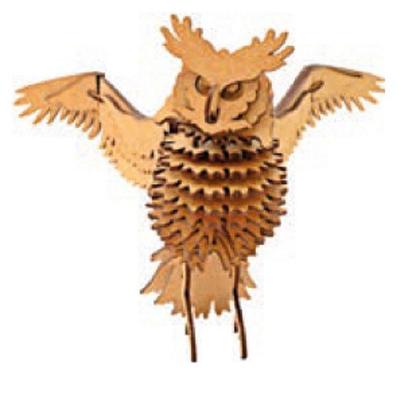 Quebra cabeça de madeira Animais 3D Coruja