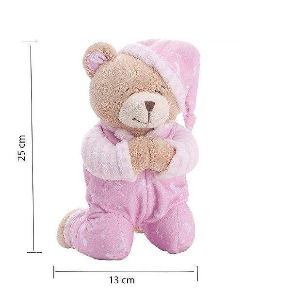 Urso Que Reza Buba Azul Urso de pelúcia  ursinho de pelúcia ROSA
