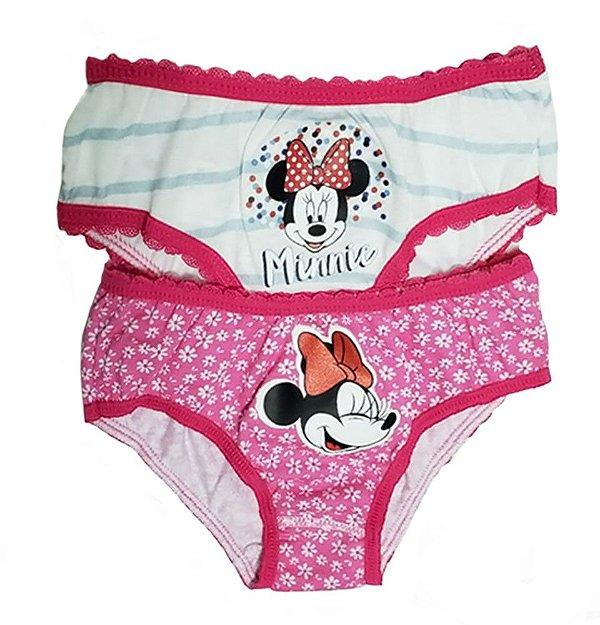 Calcinha Infantil Lupo Tema Da Disney Kit Com 2 Calcinhas MINNIE 1