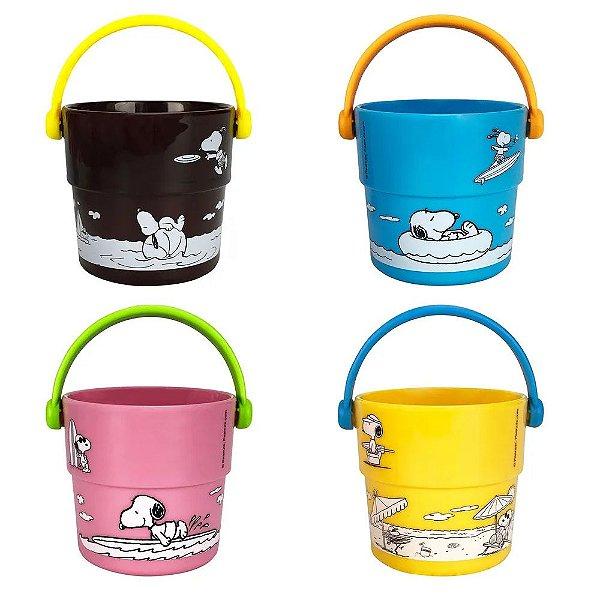 Copinho Banho Bebê Pura Diversão Snoopy 4 Peças Colorido