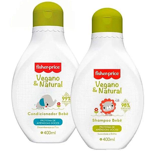 Kit Shampoo Condicionador Vegano & Natural Bebê Fisher Price