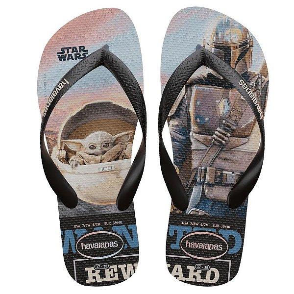Havaianas Adulto Star Wars Baby Yoda Chinelo Original
