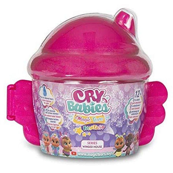 Cry Babies Magic Tears Winged House Cry Baby Boneca Surpresa POTE LILAS