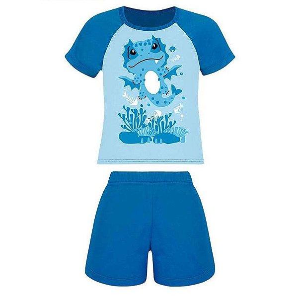 Pijama Infantil Lupo Algodão Desenho Menino Curto