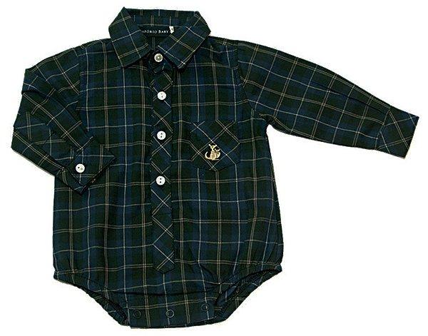 fc8cd93c46 Body camisa xadrez verde e azul - Kids na Net - A sua Loja online de ...