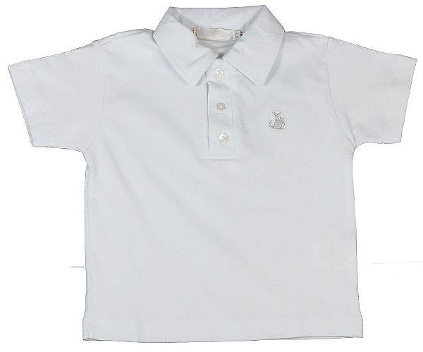 Camisa infantil Empório Baby polo manga curta branca