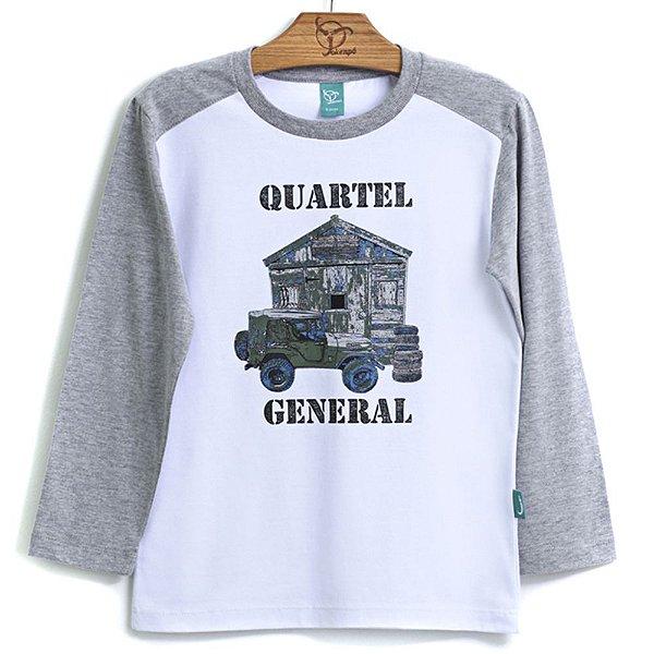 Camiseta infantil Menino Jokenpô quartel -