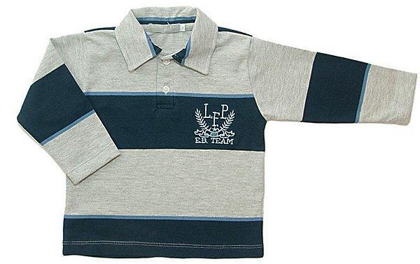 Camisa Bebê Menino Empório Baby polo manga longa eb