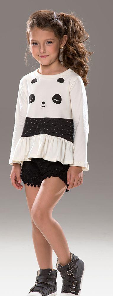 Conjunto infantil panda