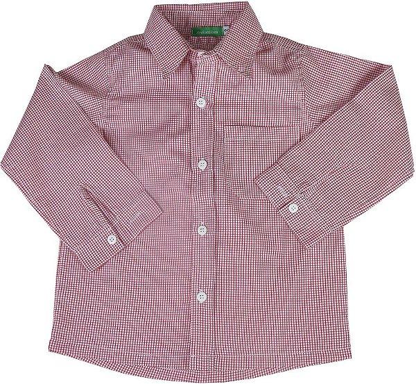 Camisa bebê xadrez vermelha