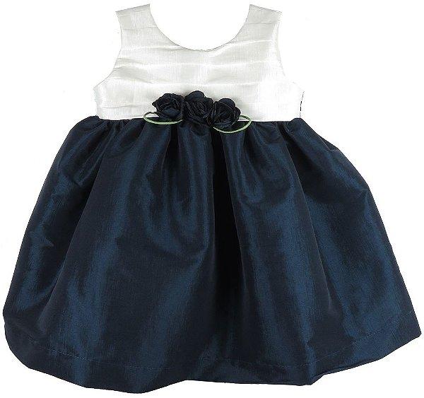 Vestido de festa infantil tomas bicolor