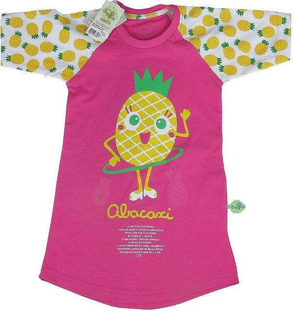 Camisola infantil feminina Cara de Criança abacaxi  -