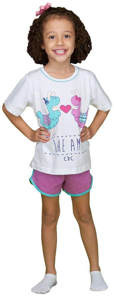 Pijama infantil que lhe ame 100% algodão - cara de criança