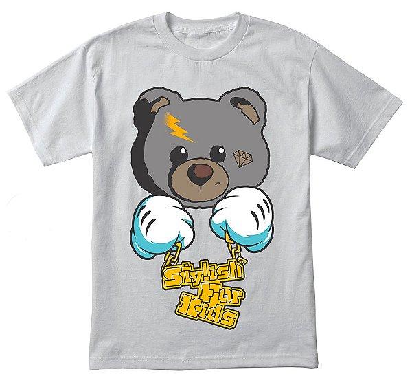 Camiseta infantil bad bear 100% algodão