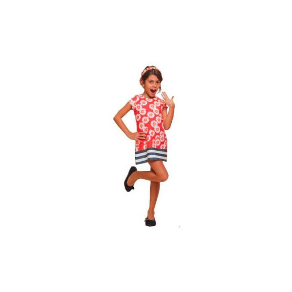 Vestido Infantil Margarida Listrado com Apliques -Luluzinha