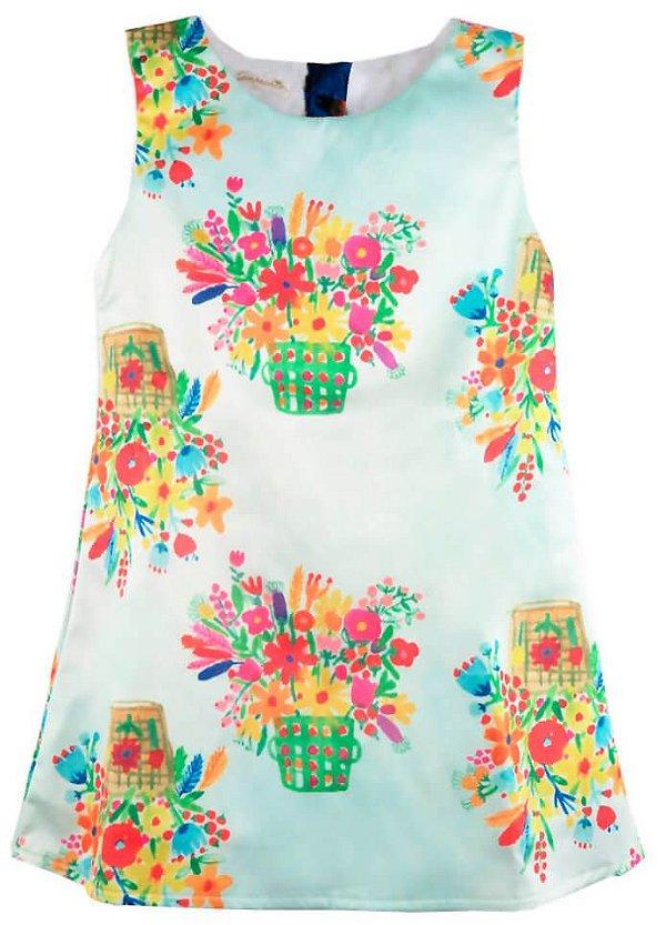 Vestido infantil Guapachicfesta Green Flowers