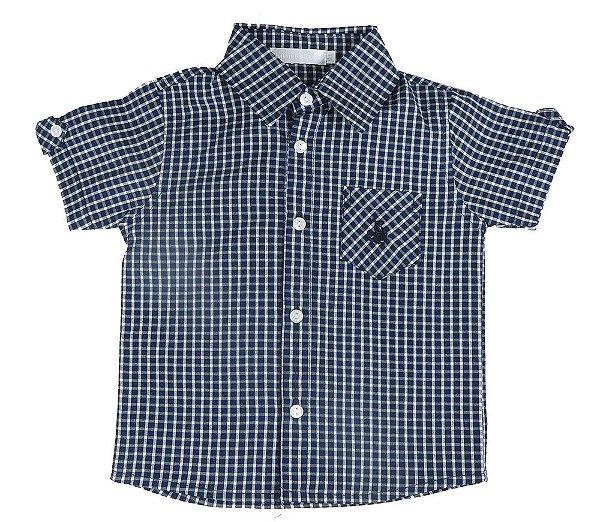 Camisa infantil masculino Empório Baby xadrez azul