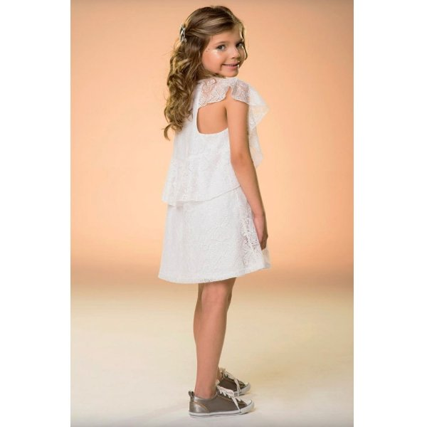 Vestido Infantil Que te encante renda Sienna com forro
