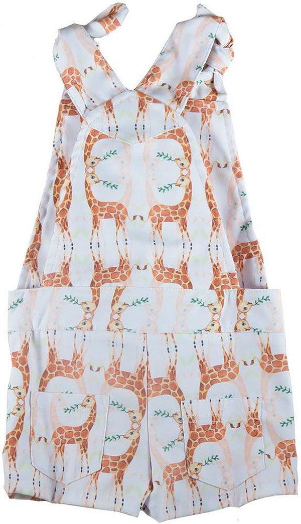 Macaquinho infantil feminino Que te encante girafas -