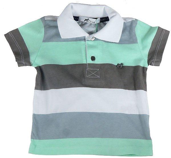 e87374ed6b Camiseta polo infantil listras 100% algodão - Oliver - Kids na Net ...