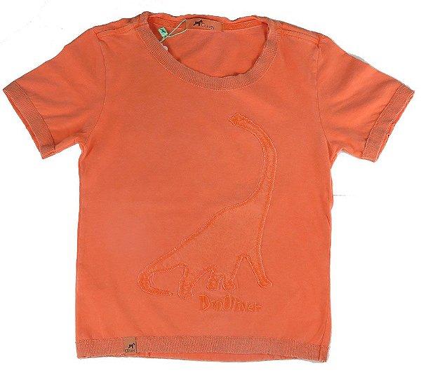 Camiseta infantil Oliver Dino com  tingimento especial