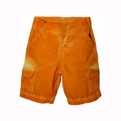 Bermuda infantil Menino Charpey laranja com ajuste interno