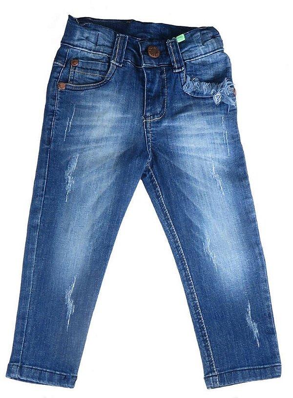 Calça  infantil Oliver jeans  five pocket Skinny bolso