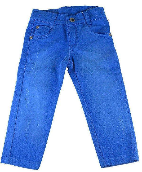 Calça infantil Oliver Sarja Infantil Azul Higth Color
