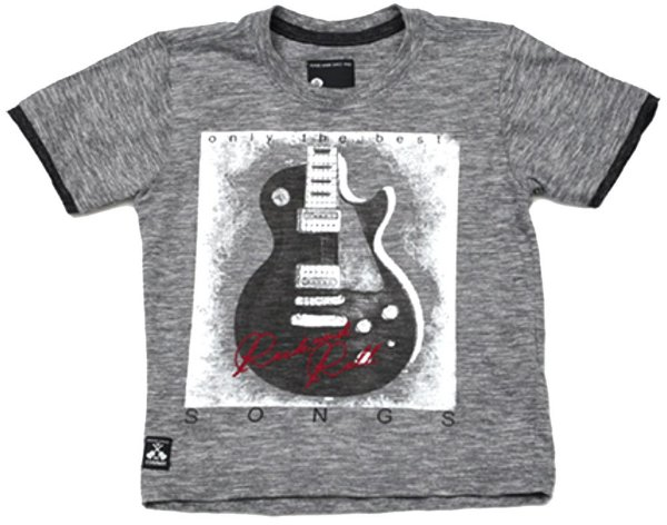Camiseta infantil Banana Danger cinza song Rock and Roll