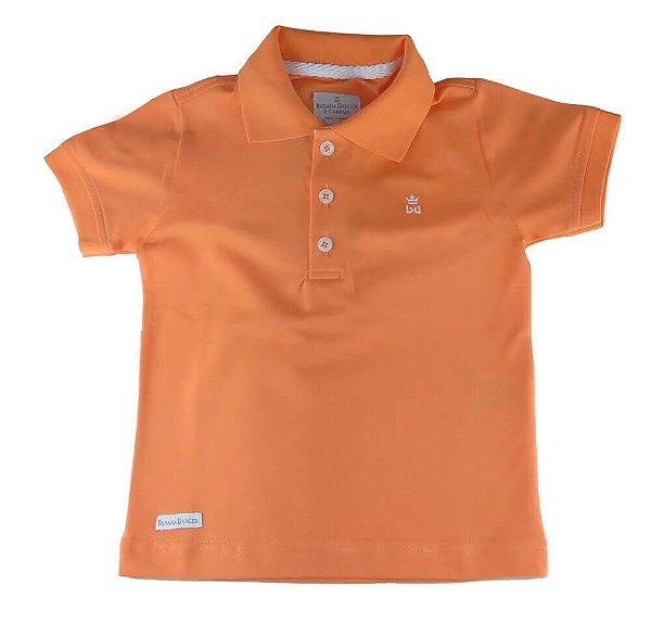 Camiseta polo infantil masculino Banana Danger laranja -