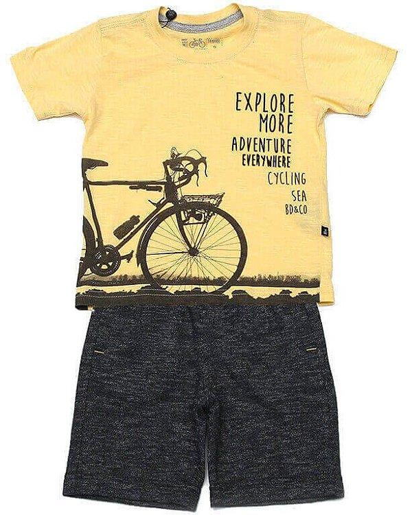 Conjunto infantil Banana Danger camiseta + bermuda explorer