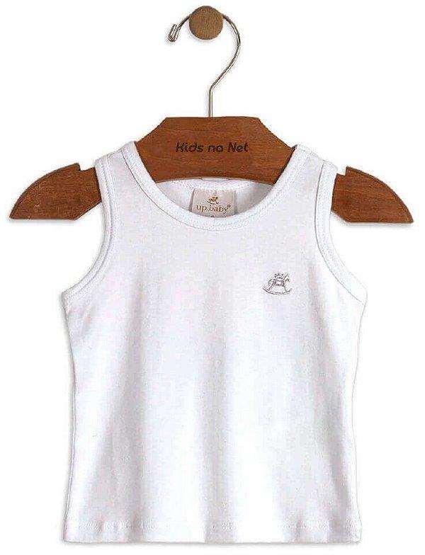 Blusa infantil feminina Up Baby em cotton lisa branca- up