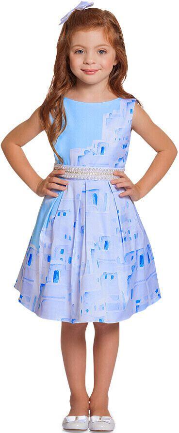 27d317750 Vestido festa infantil grécia Oia pérolas - Ninali - Kids na Net - A ...