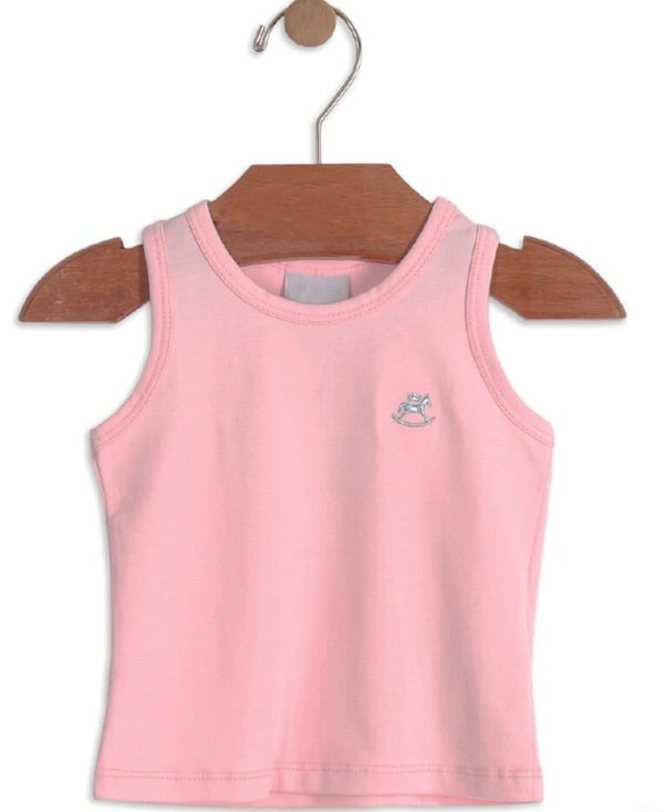 Blusa infantil feminina Up Baby em cotton lisa rosa- Up