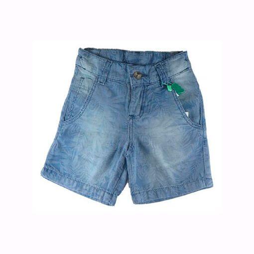Bermuda Jeans Menino Oliver Infantil Tropical Denin