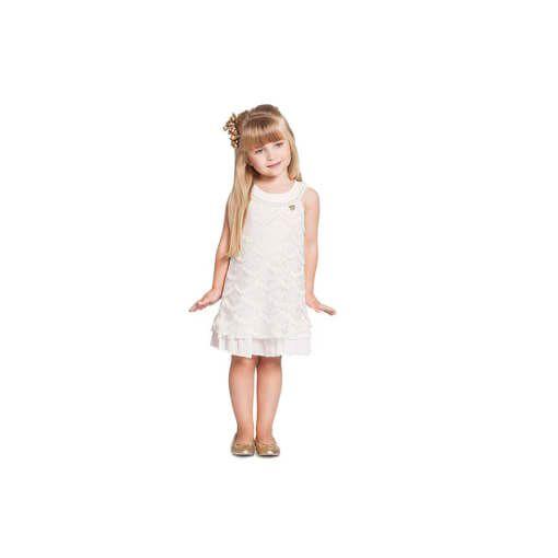 Vestido infantil Menina Ninali de renda off white