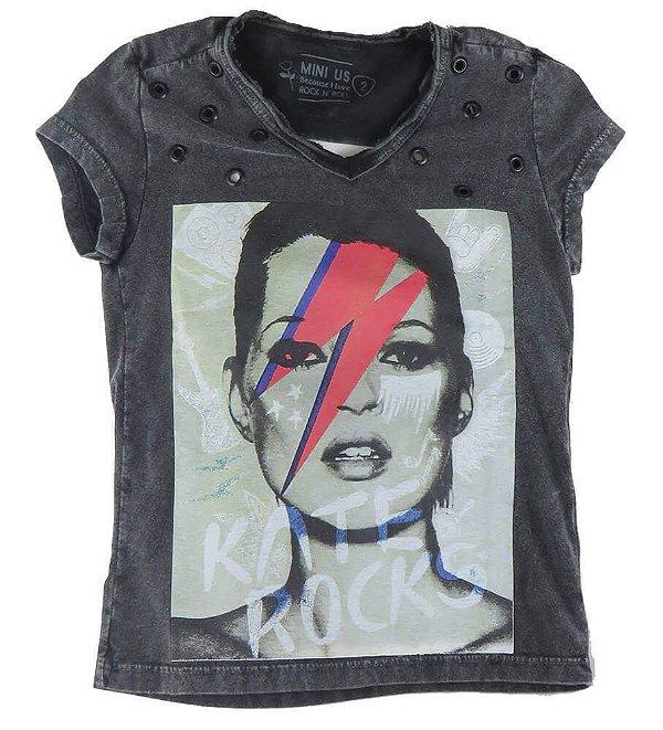 Camiseta infantil Menina Mini US kate rocks