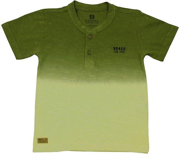 Camiseta Infantil Banana Danger Free Stone Verde e Amarela