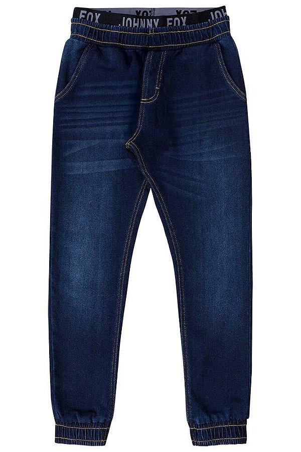 Calça infantil masculino Johnny Fox Moletom Jeans Box -