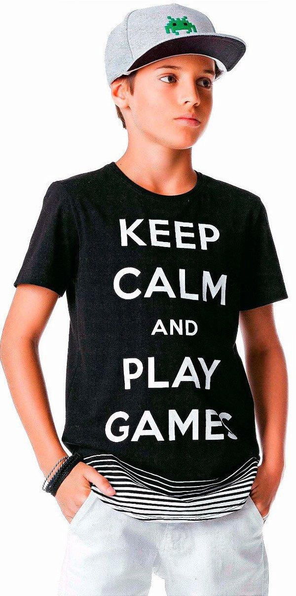 Camiseta Infantil Johnny Fox Longer Keep Calm and Play Games