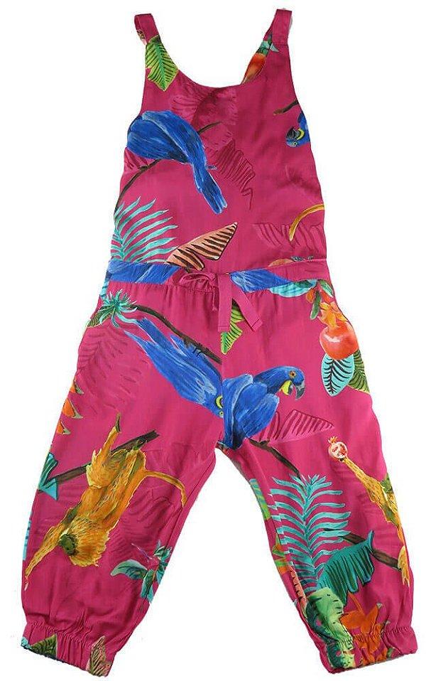 21fc48b4f Macacão infantil em viscose midi pink Arara - Kids na Net - A sua ...